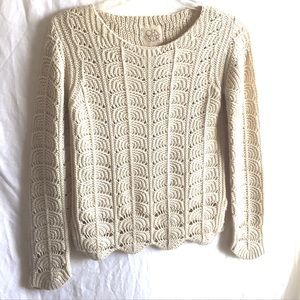 CHASER || scalloped hem halo knit sweater